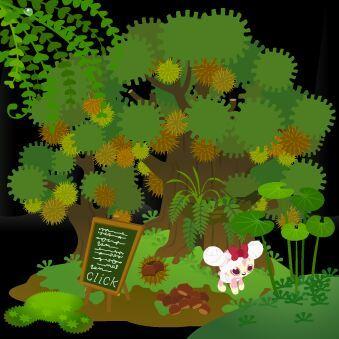【GLL】今月のアイランドは「栗の大木」アイテム「イガグリ」と「クリ山盛り」