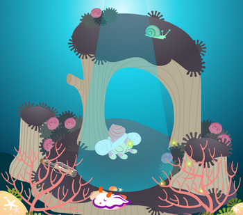 今週のヤミーSHOP「小瓶A」「貝殻A」「珊瑚礁」「海中壁紙A」
